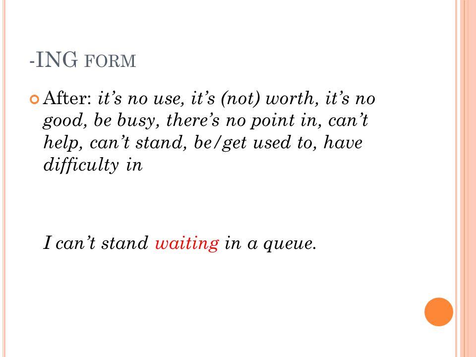 -ING form