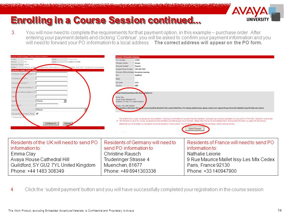 Enrolling in a Course Session continued...