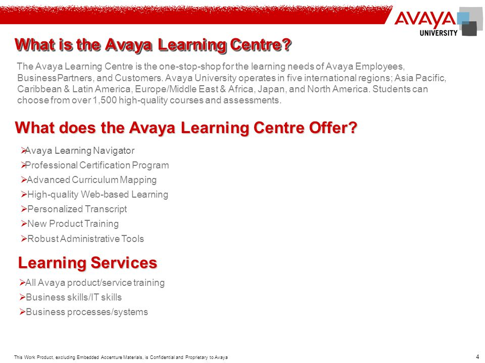 What is the Avaya Learning Centre