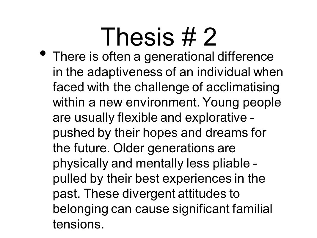 Thesis # 2