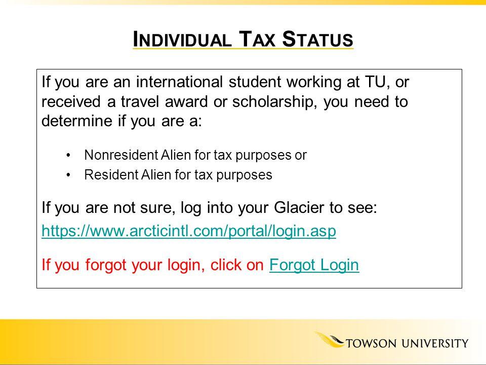 Individual Tax Status