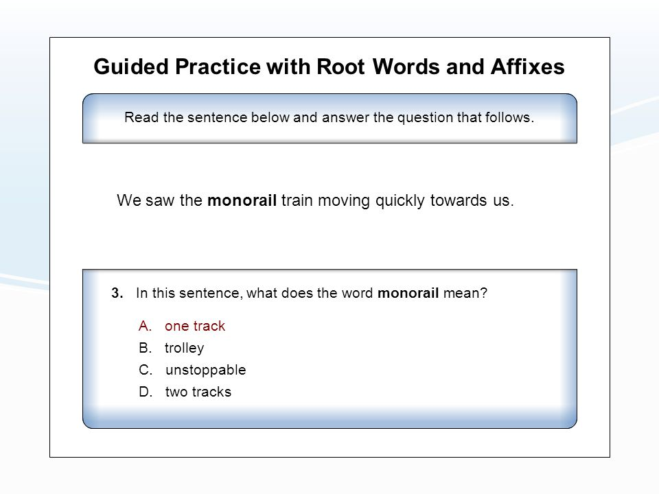 Guided Practice with Root Words and Affixes