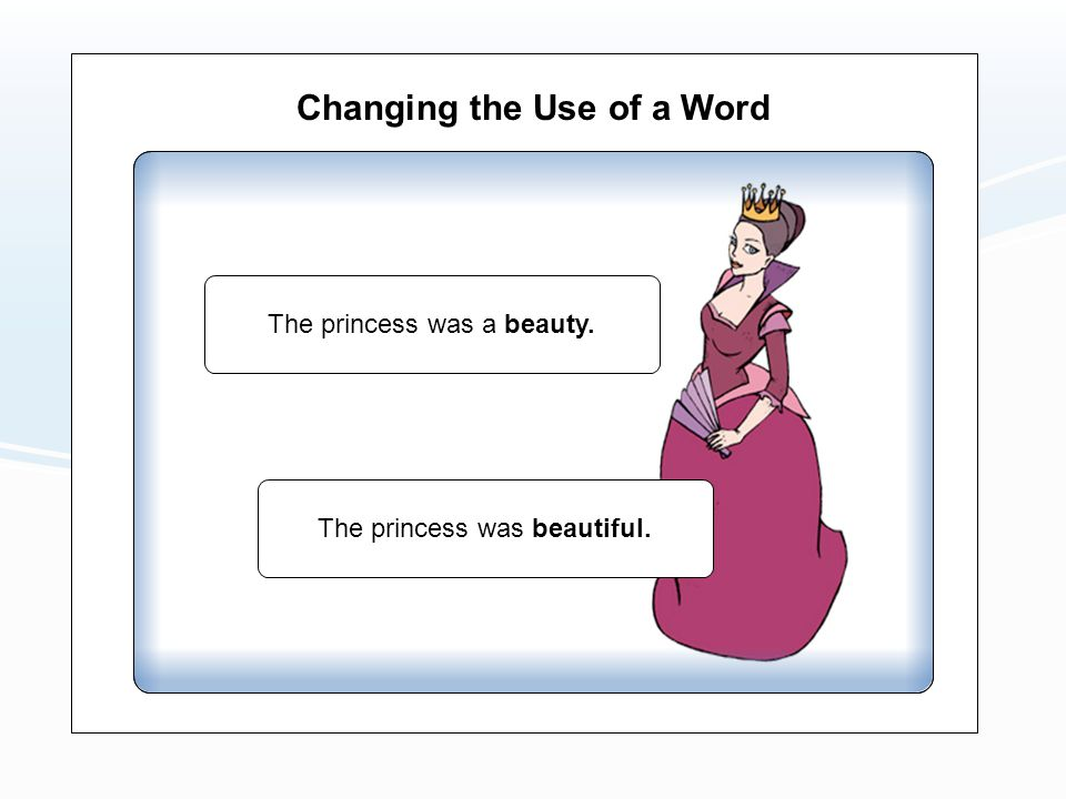 Changing the Use of a Word