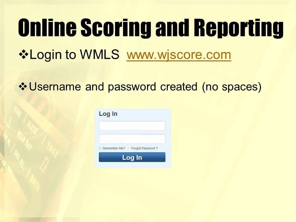 Online Scoring and Reporting