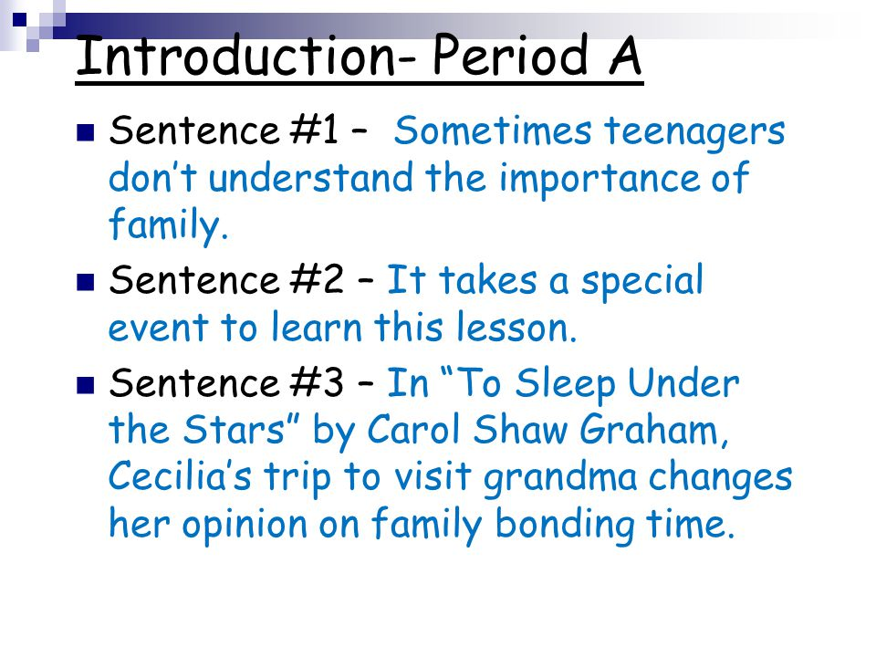 Introduction- Period A