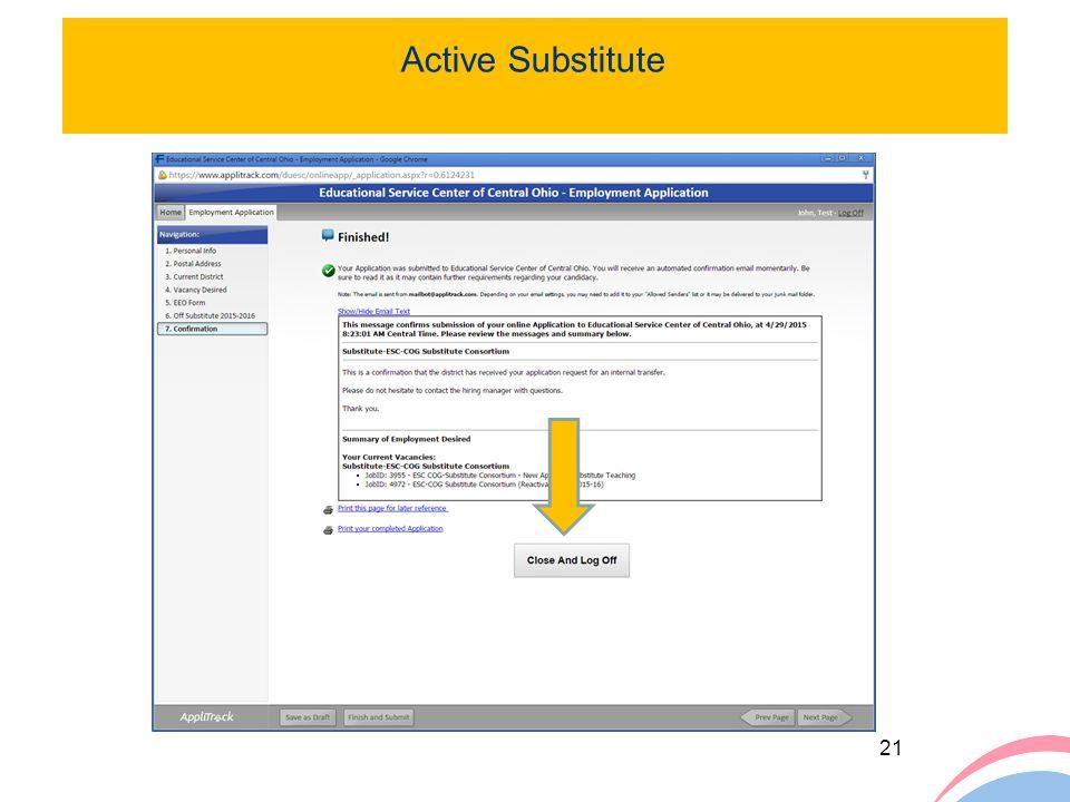 Active Substitute Cl ck