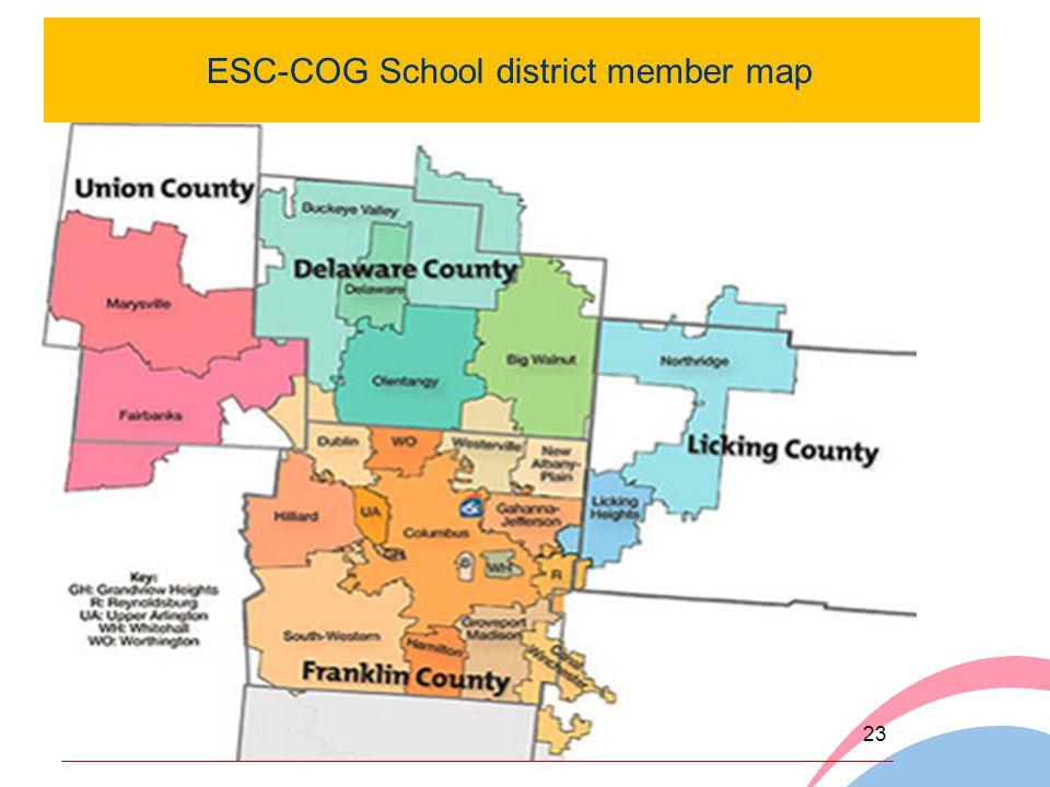 ESC-COG School district member map