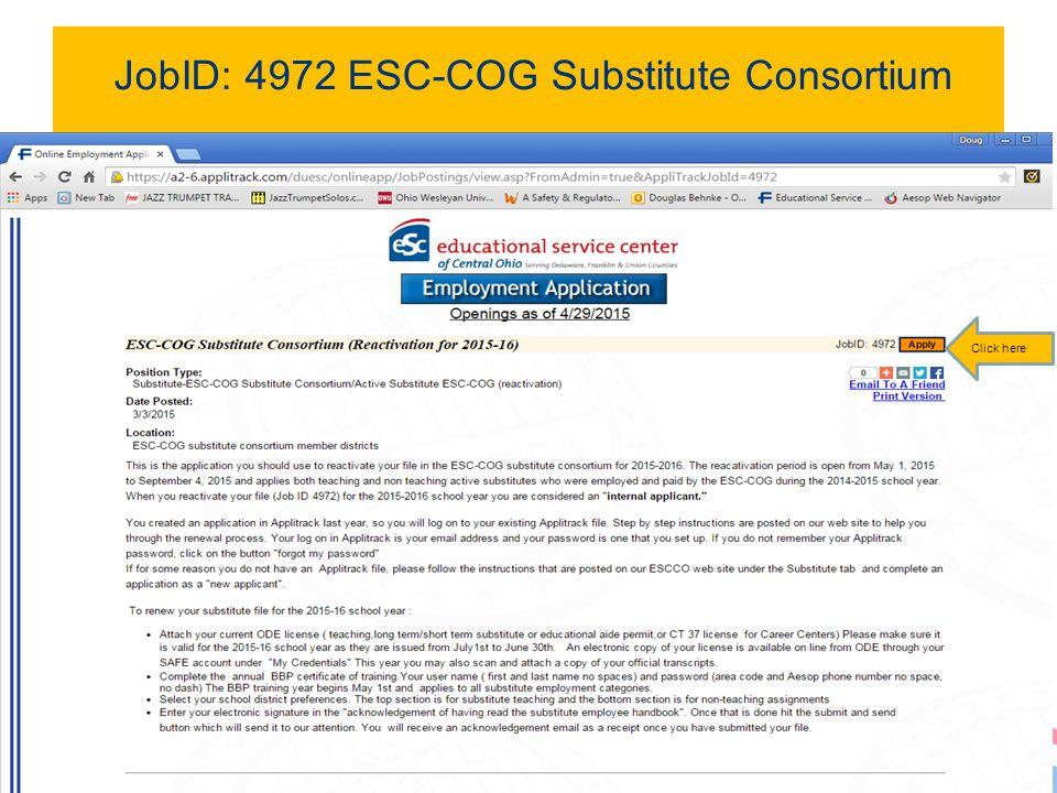 JobID: 4972 ESC-COG Substitute Consortium