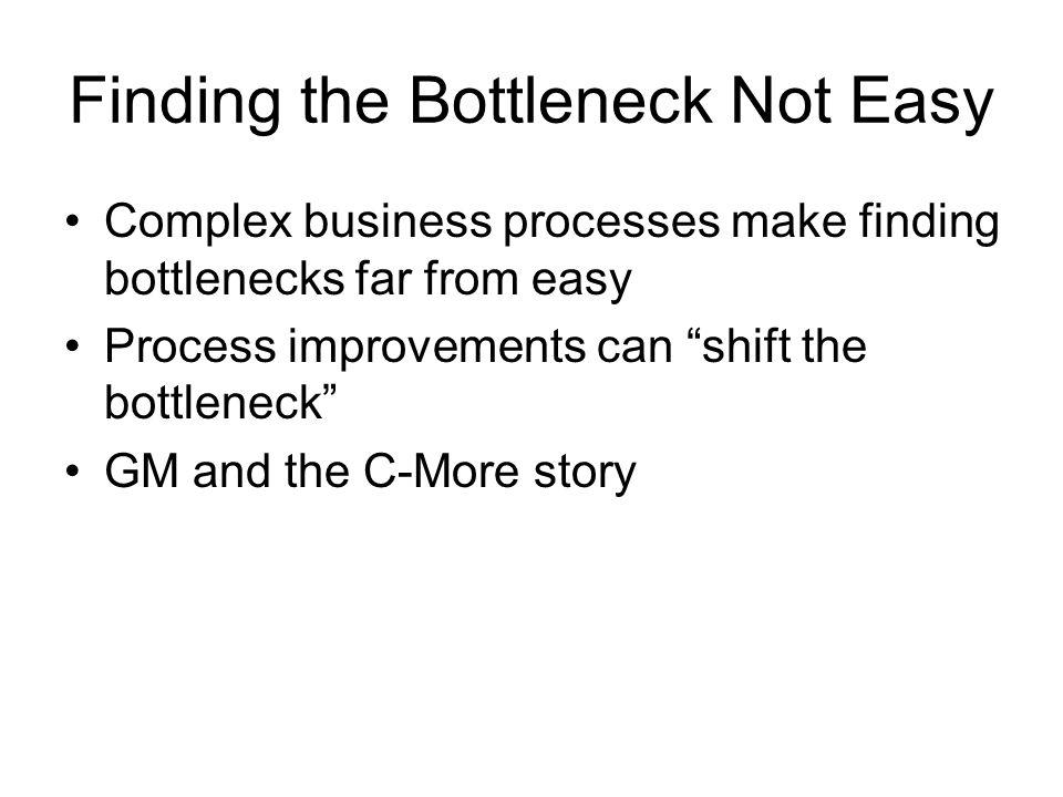 Finding the Bottleneck Not Easy