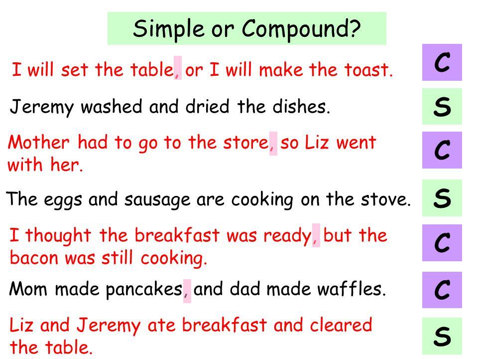 C S C S C C S Simple or Compound