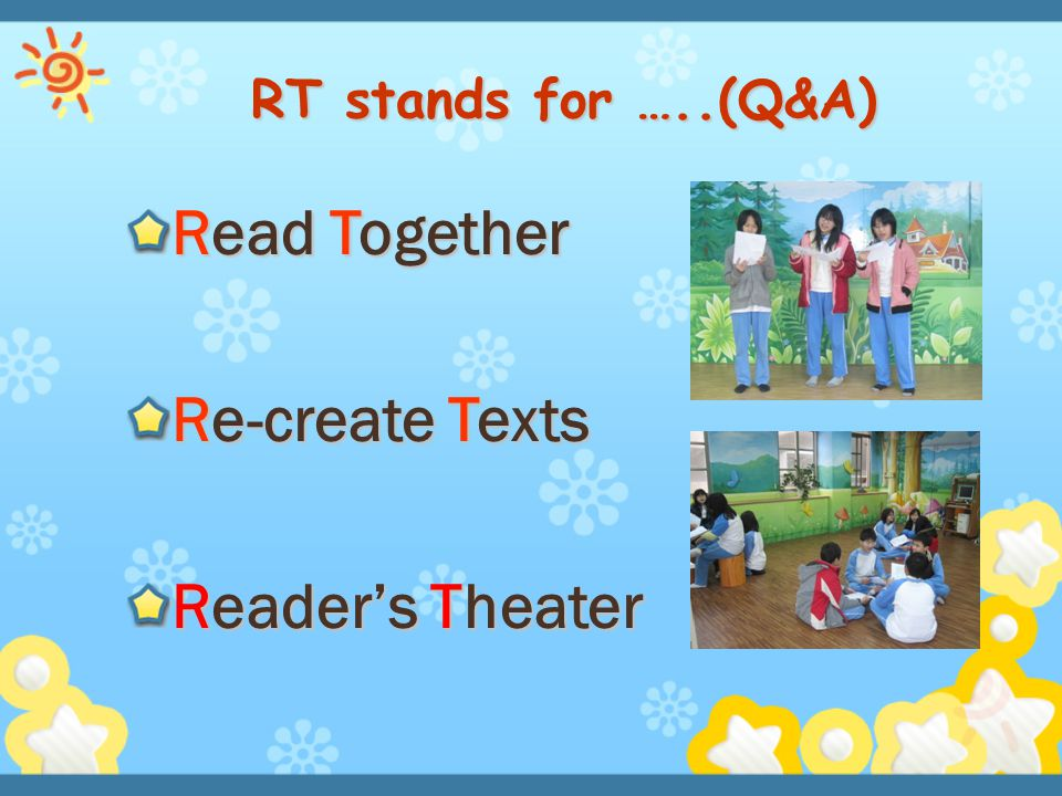 Read Together Re-create Texts Reader's Theater