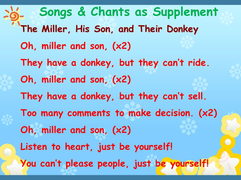 Songs & Chants as Supplement