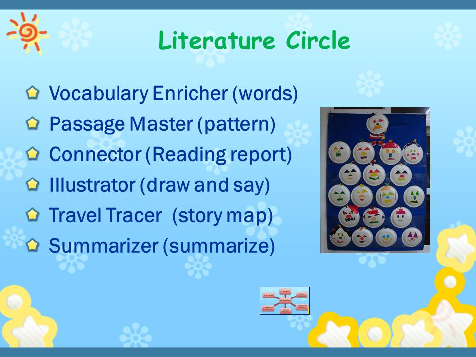 Literature Circle Vocabulary Enricher (words) Passage Master (pattern)