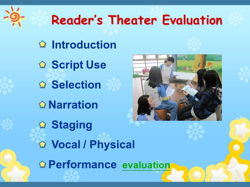 Reader's Theater Evaluation