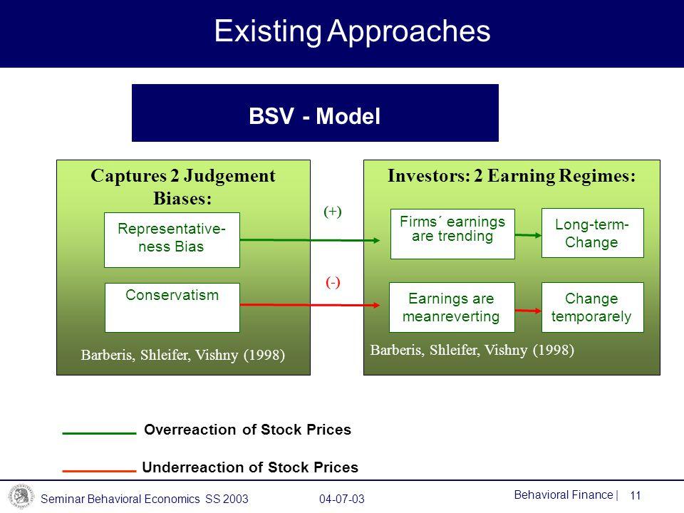 Investors: 2 Earning Regimes: