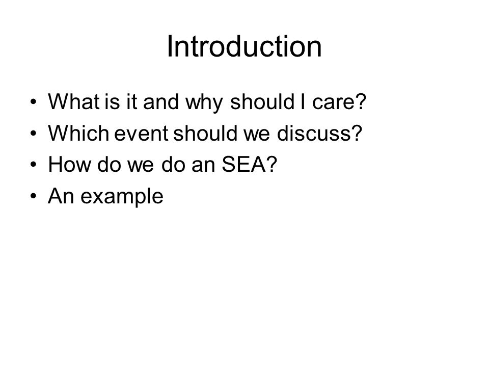 Introduction What is it and why should I care