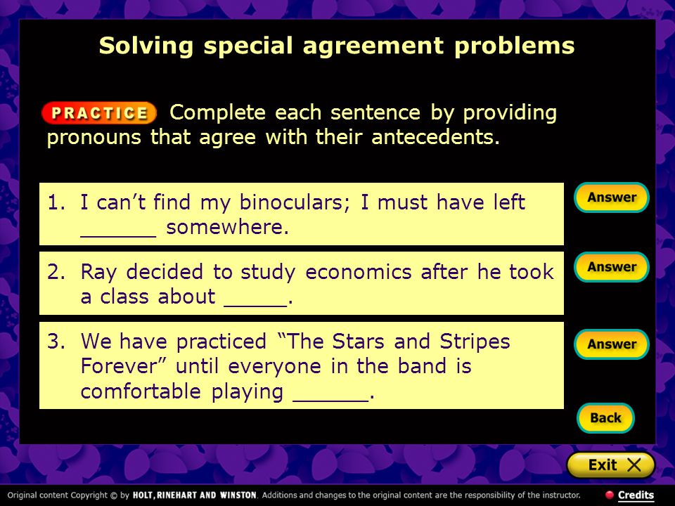 Solving special agreement problems
