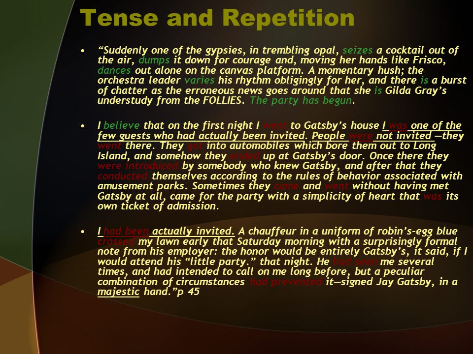 Tense and Repetition