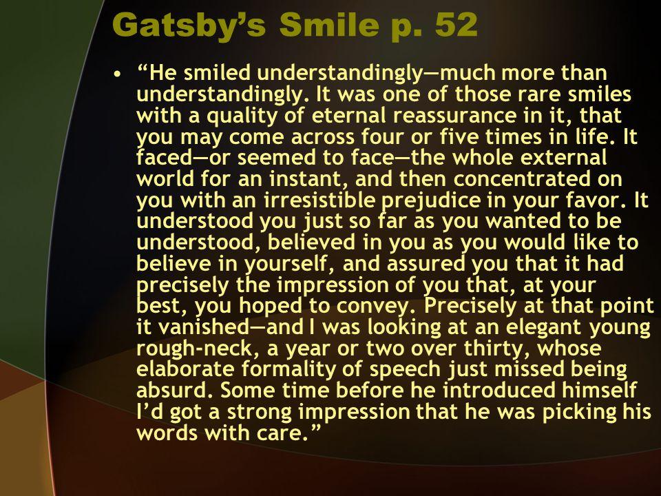 Gatsby's Smile p. 52