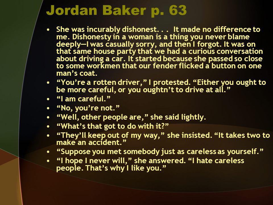 Jordan Baker p. 63