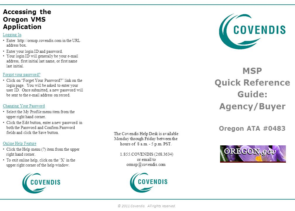 MSP Quick Reference Guide: Agency/Buyer