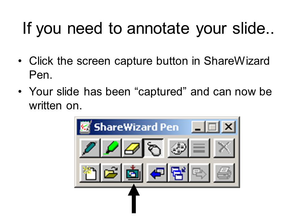 If you need to annotate your slide..