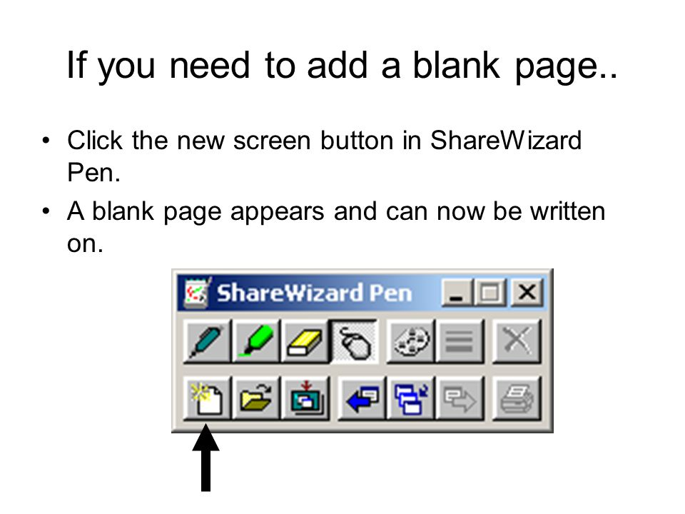 If you need to add a blank page..