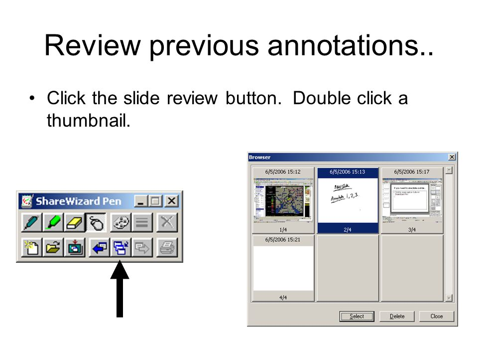 Review previous annotations..