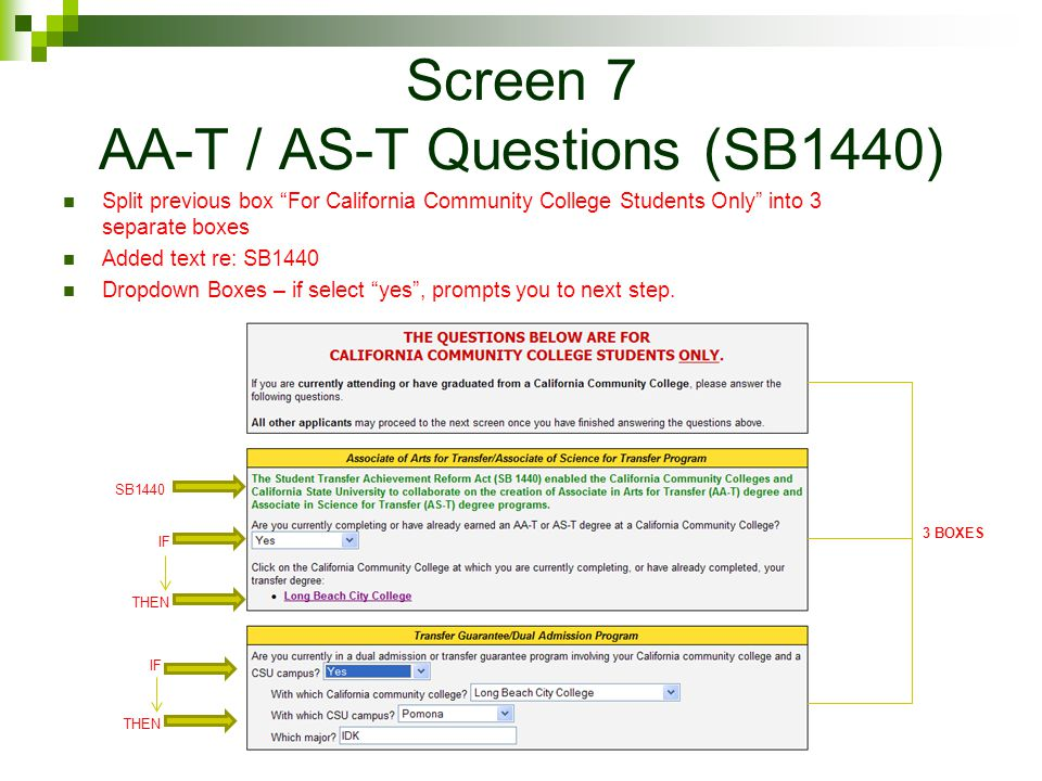 Screen 7 AA-T / AS-T Questions (SB1440)