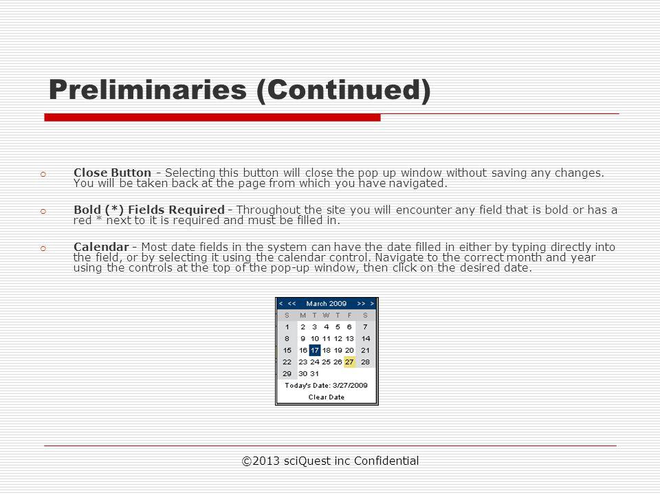Preliminaries (Continued)