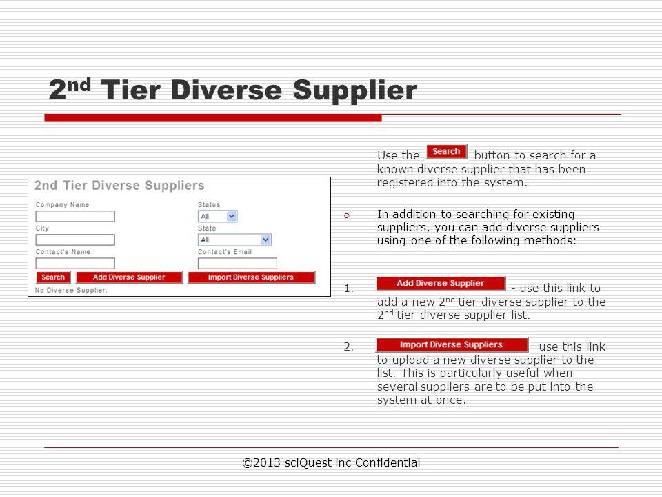 2nd Tier Diverse Supplier