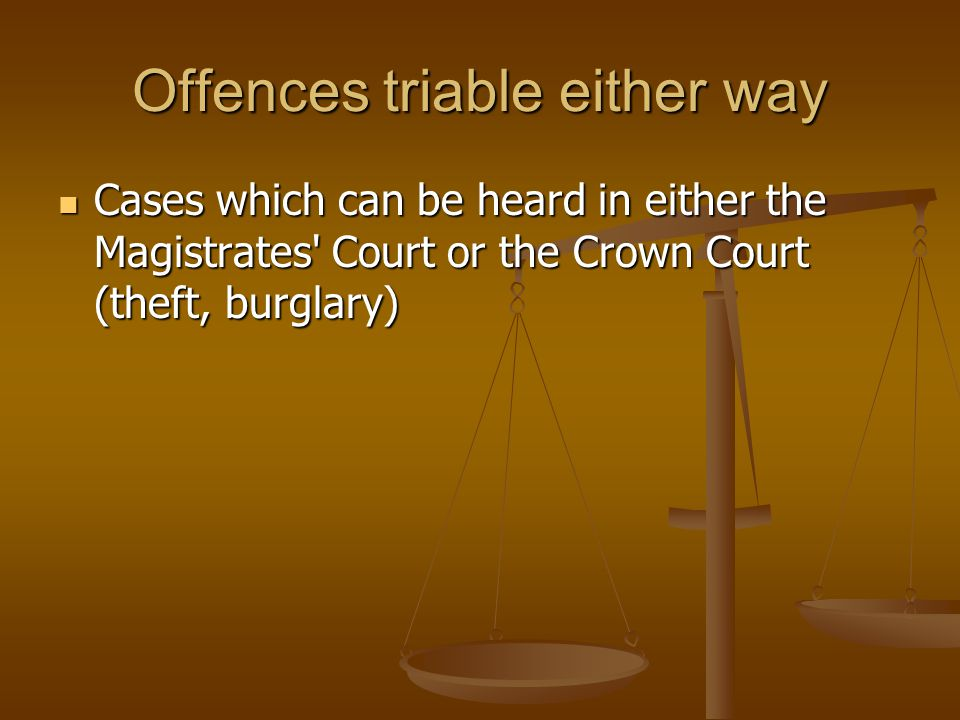 Offences triable either way