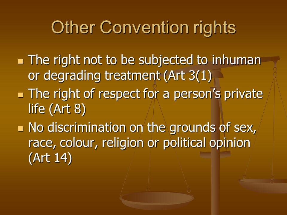 Other Convention rights