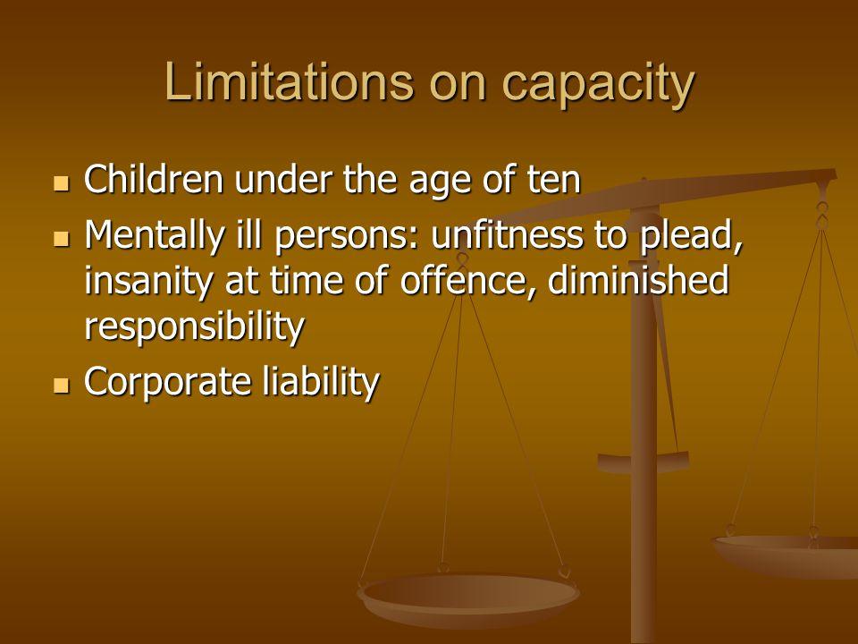 Limitations on capacity