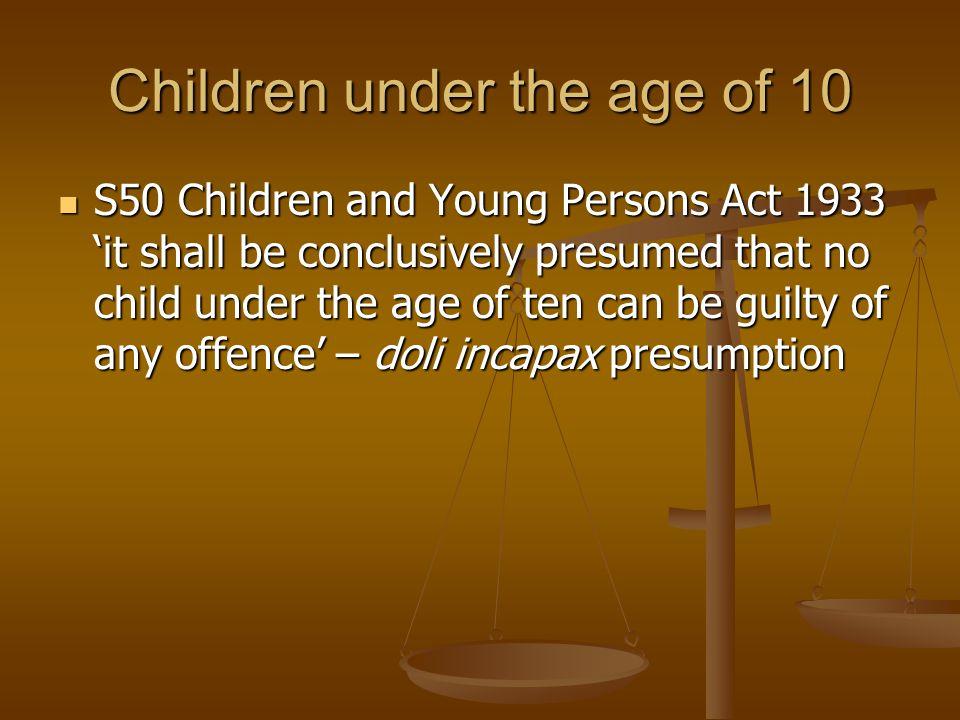 Children under the age of 10