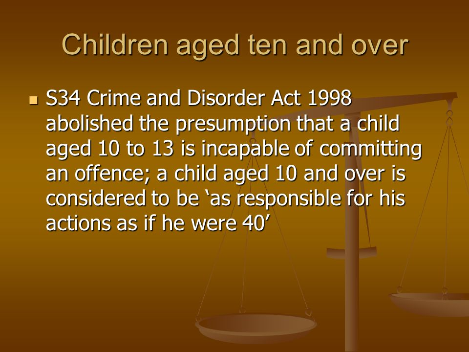 Children aged ten and over