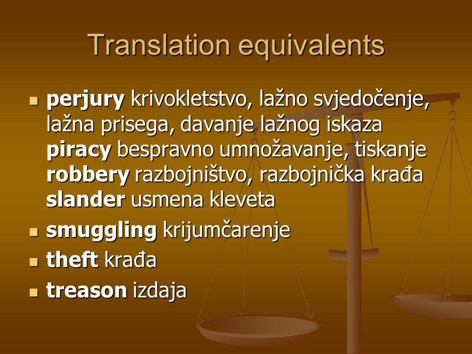 Translation equivalents