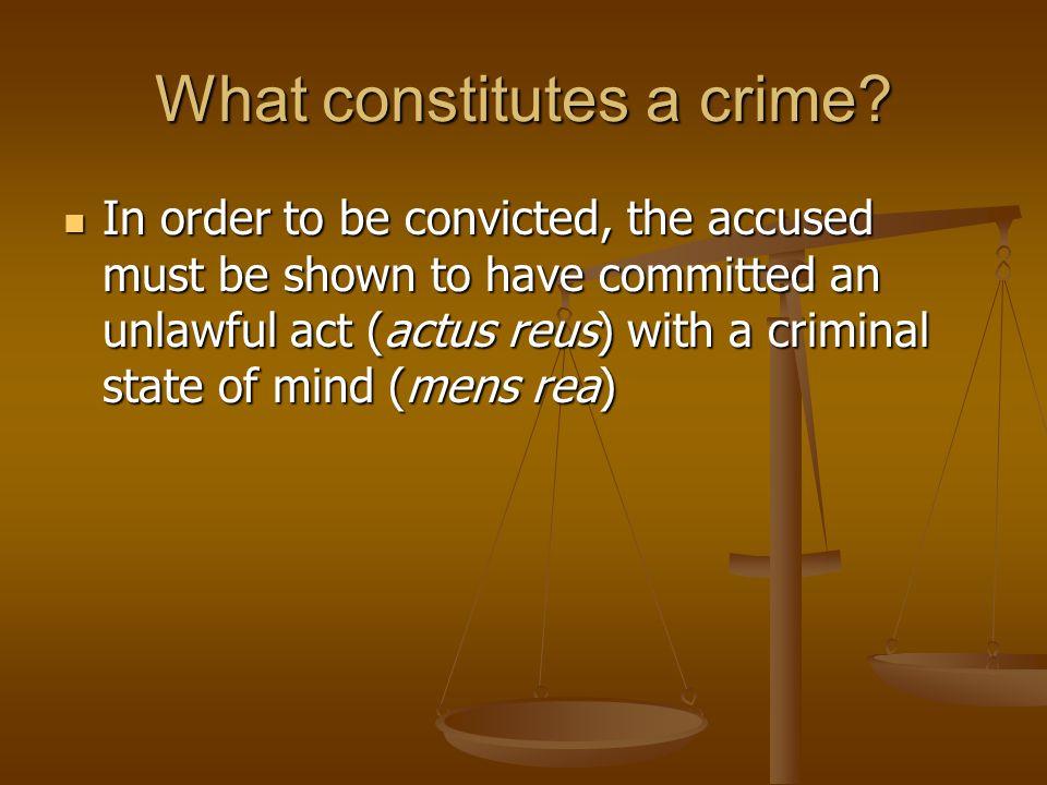 What constitutes a crime