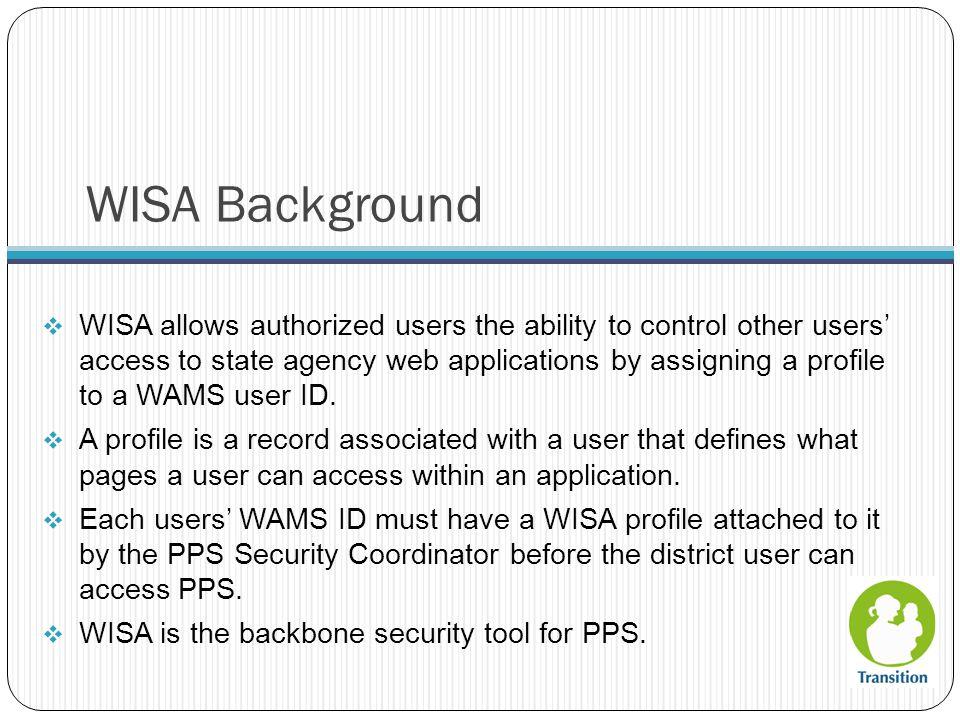 WISA Background