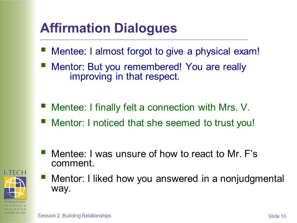 Affirmation Dialogues