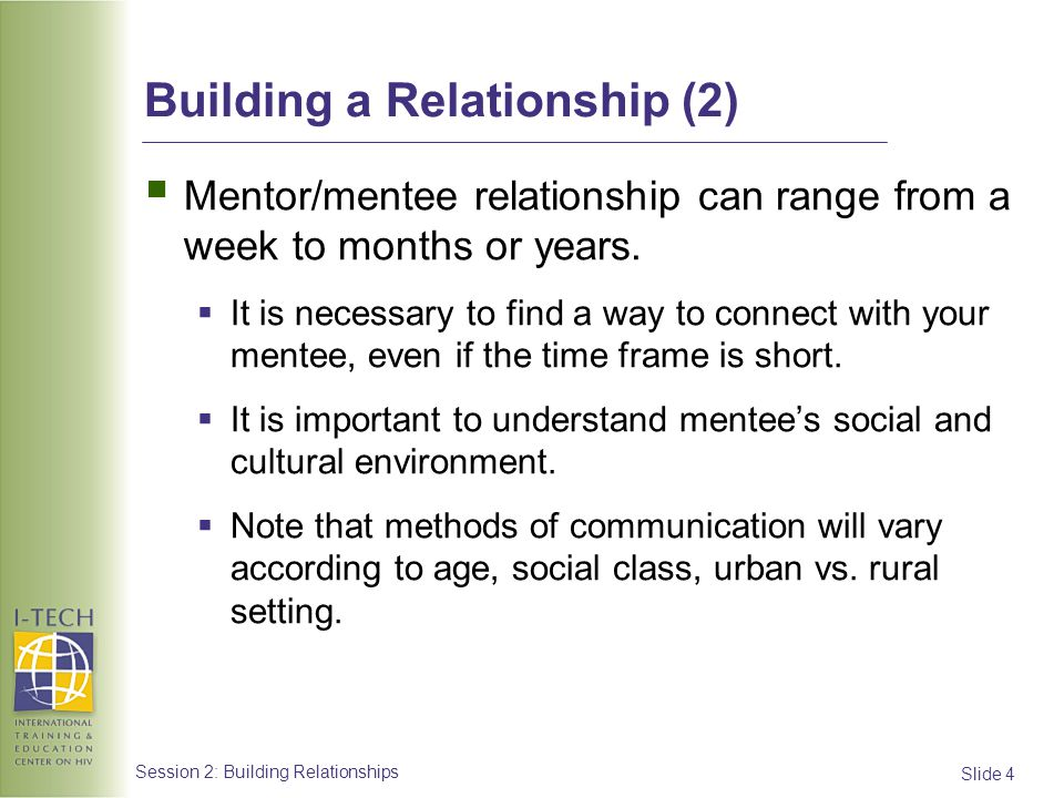 Building a Relationship (2)
