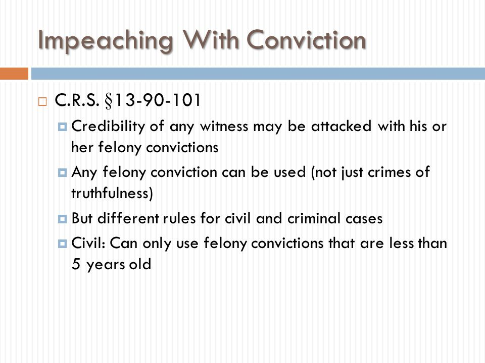 Impeaching With Conviction