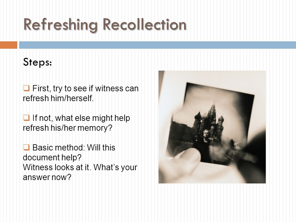Refreshing Recollection