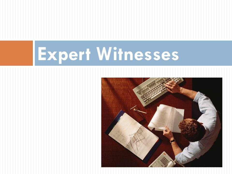 Expert Witnesses