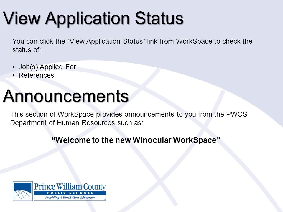 View Application Status