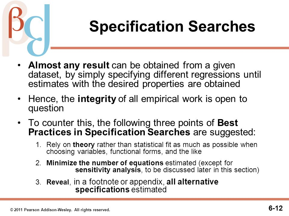Sequential Specification Searches