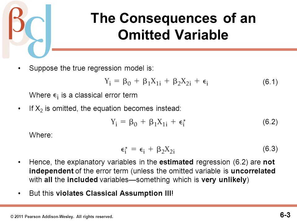 The Consequences of an Omitted Variable (cont.)
