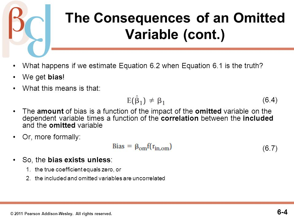 Correcting for an Omitted Variable