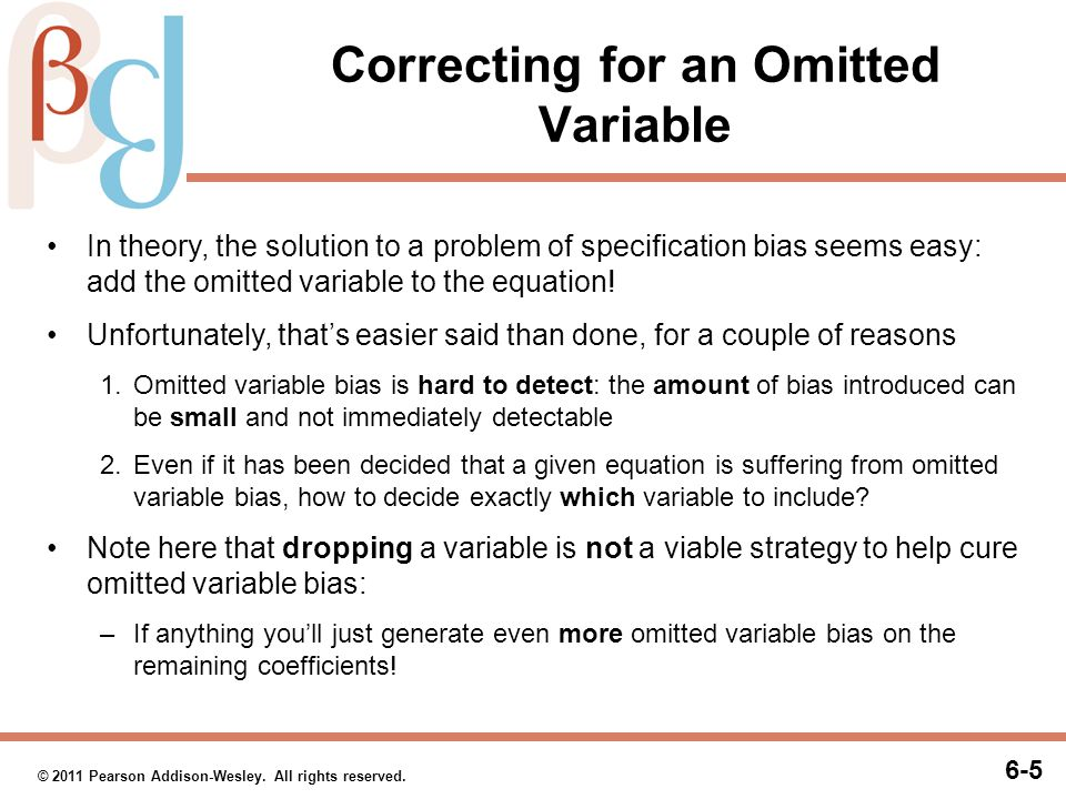 Correcting for an Omitted Variable (cont.)