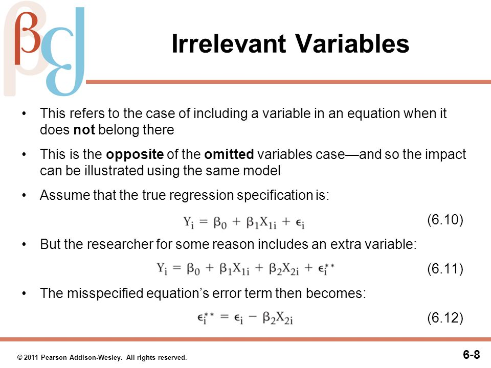 Irrelevant Variables (cont.)